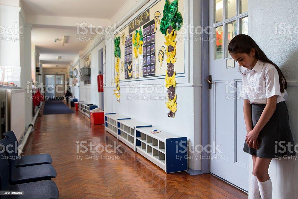 Go Stand in the Corridor stock photo