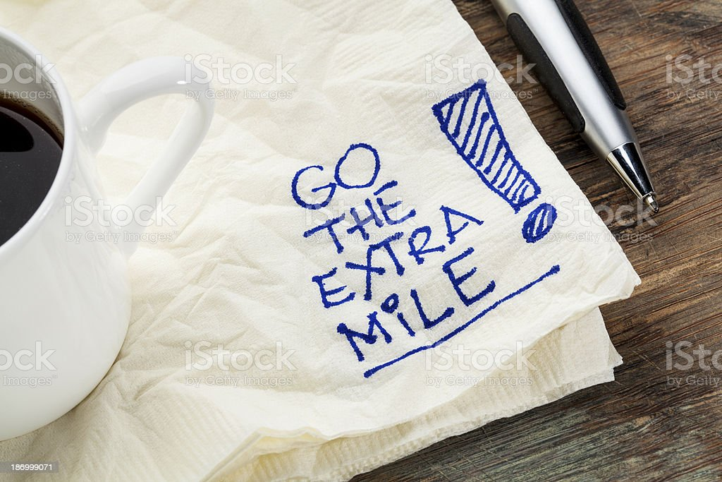 go the extra mile stock photo
