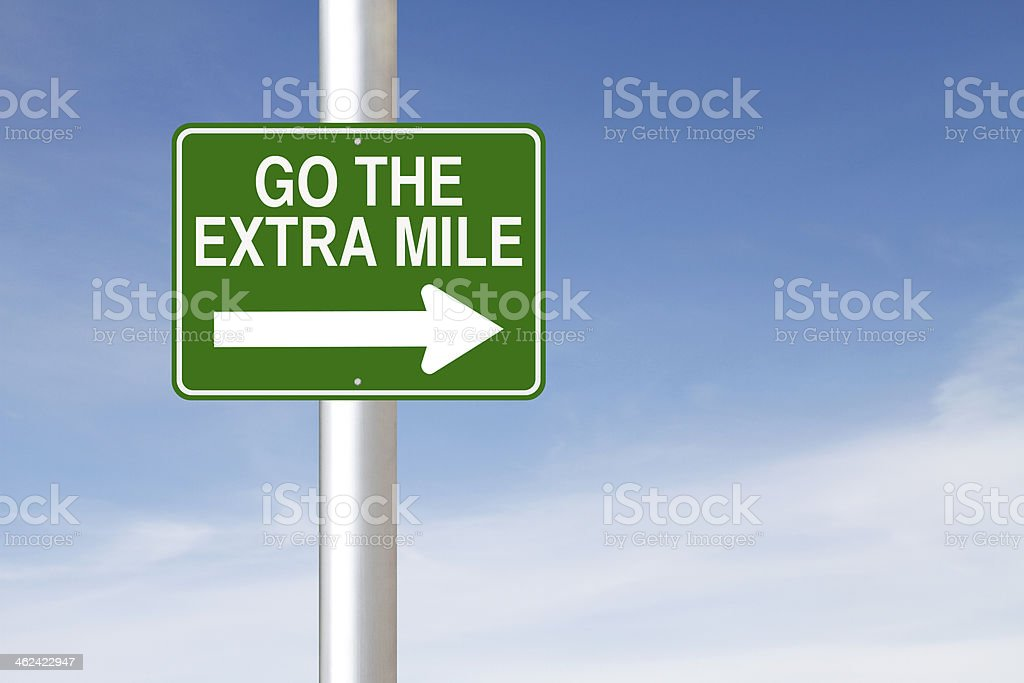Go the Extra Mile royalty-free stock photo