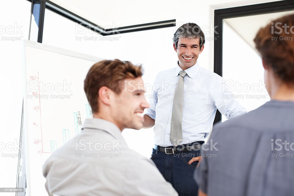 Go through the financial quarter together royalty-free stock photo