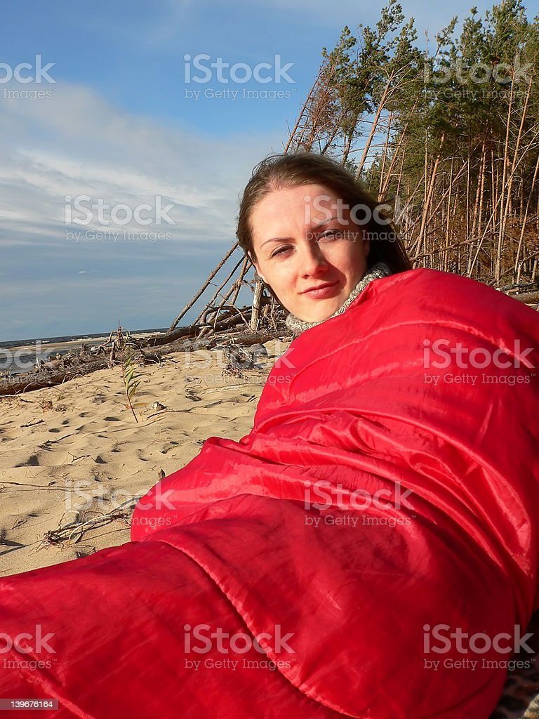Go to bed stock photo