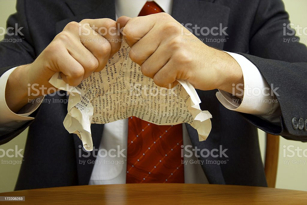 Go to hell with your contract!!! royalty-free stock photo