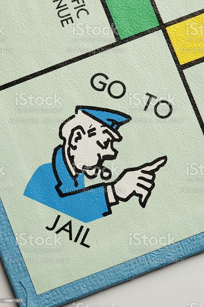 Go To Jail stock photo