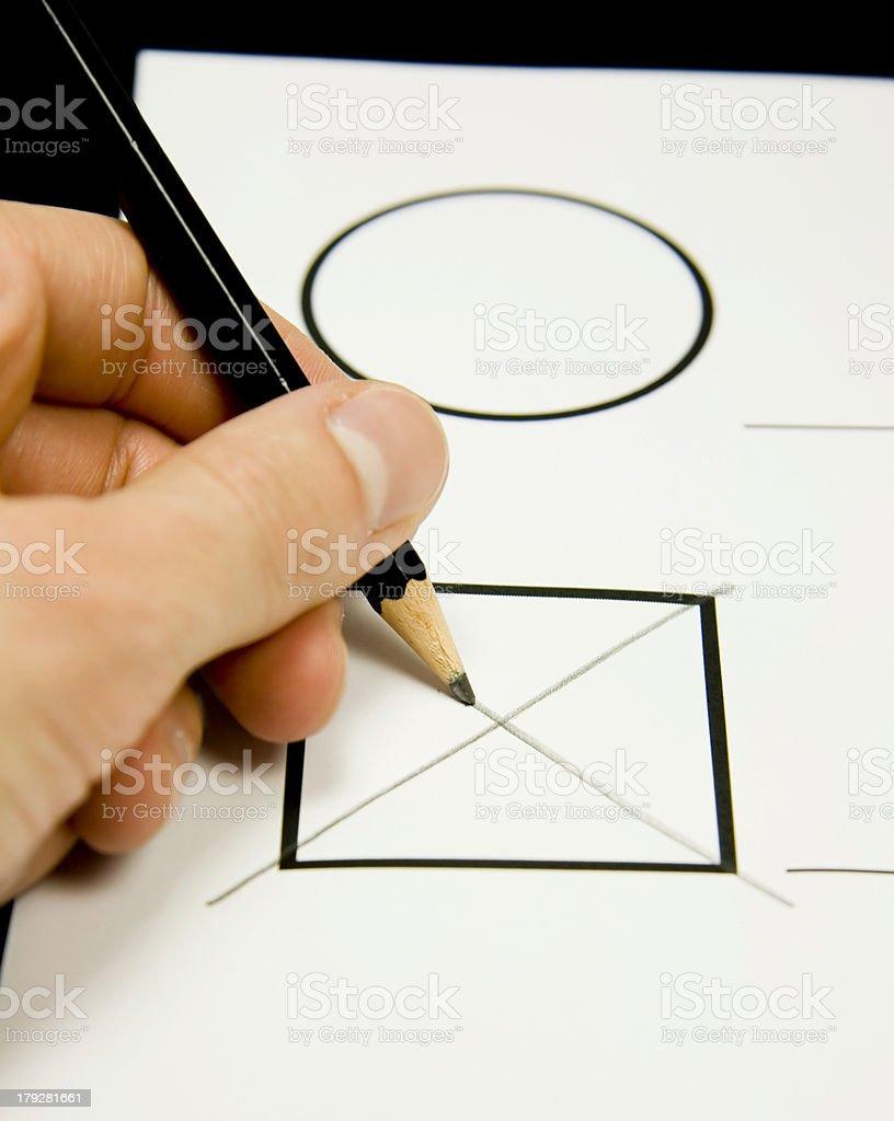Go to vote stock photo