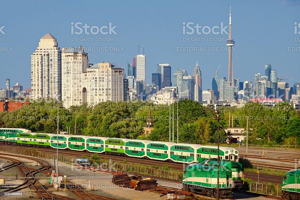 Go Train Go Transit Toronto Ontario Canada stock photo