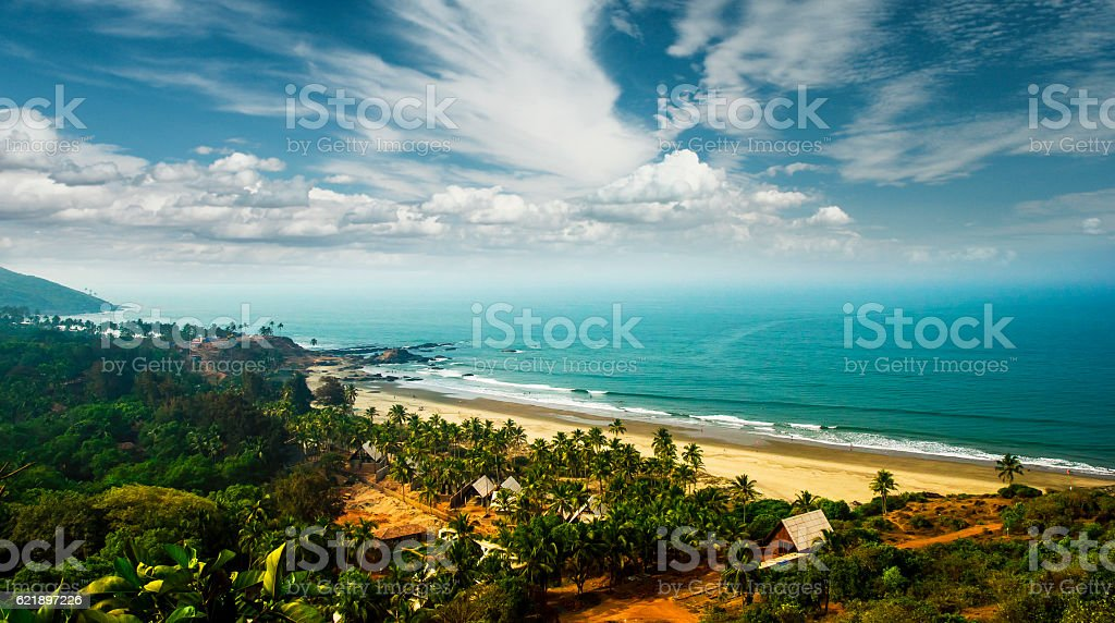 Goa beach and beautiful sky, India stock photo