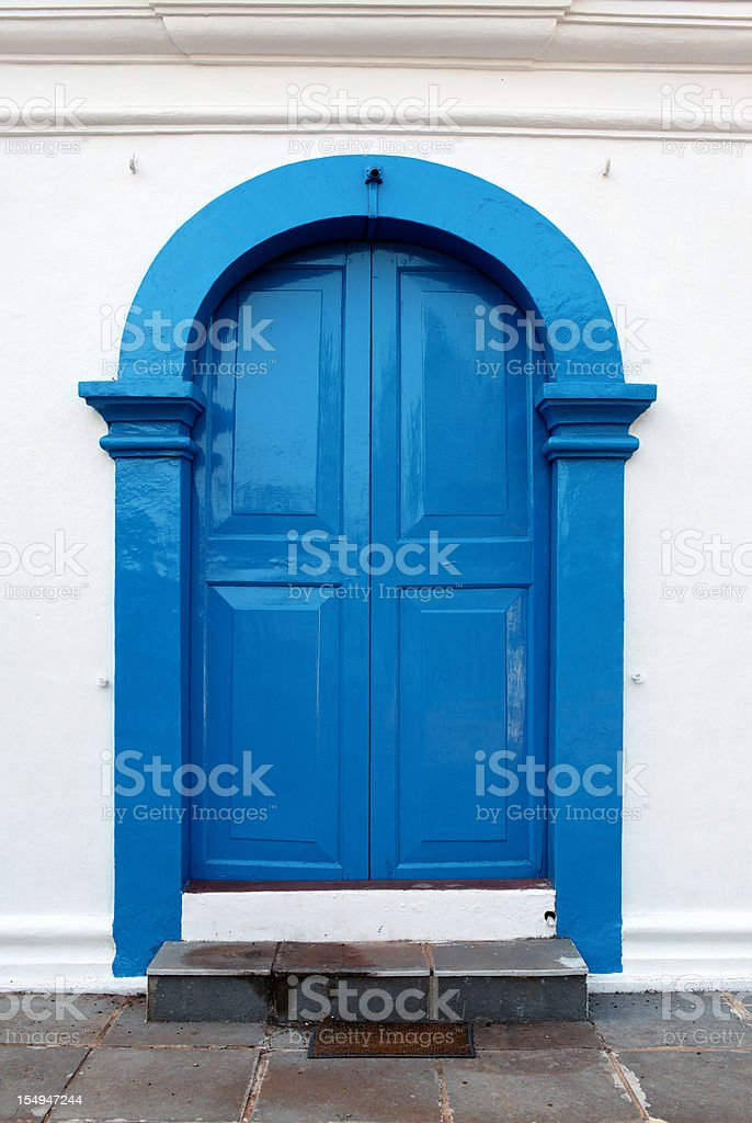 Goa Church Door stock photo