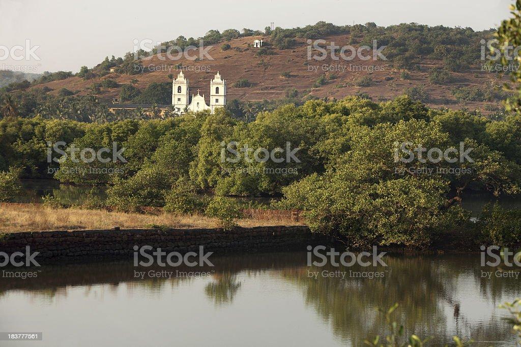 Goa Church landscape royalty-free stock photo