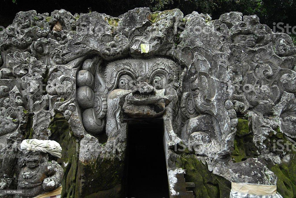 Goa Gajah, Elephant Cave, Bali, Indonesia royalty-free stock photo