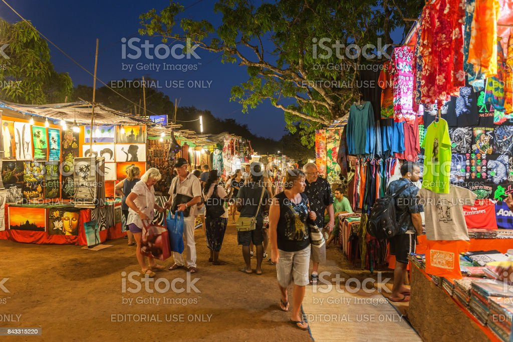 Goa Night Market stock photo