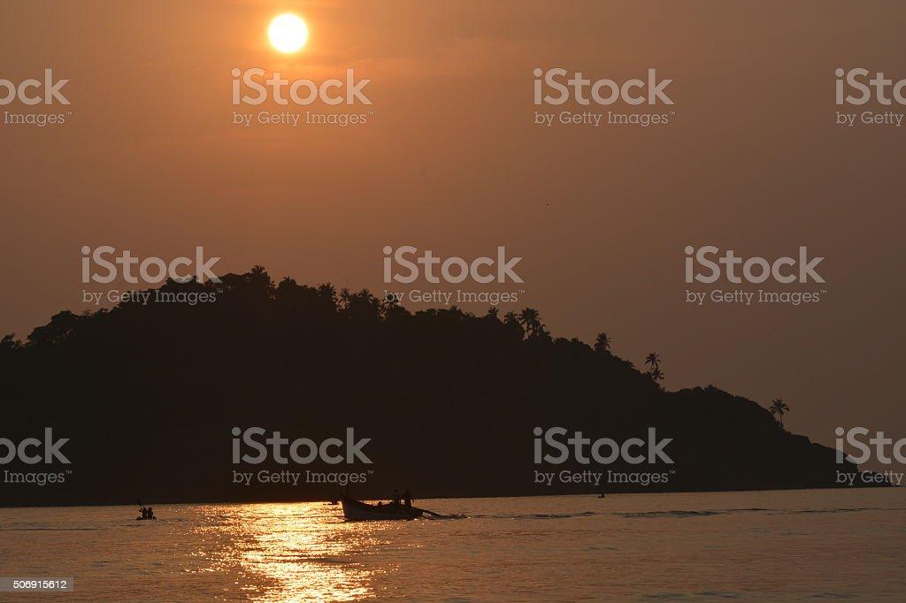 Goa sunset stock photo