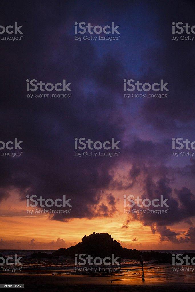 Goa Sunset royalty-free stock photo