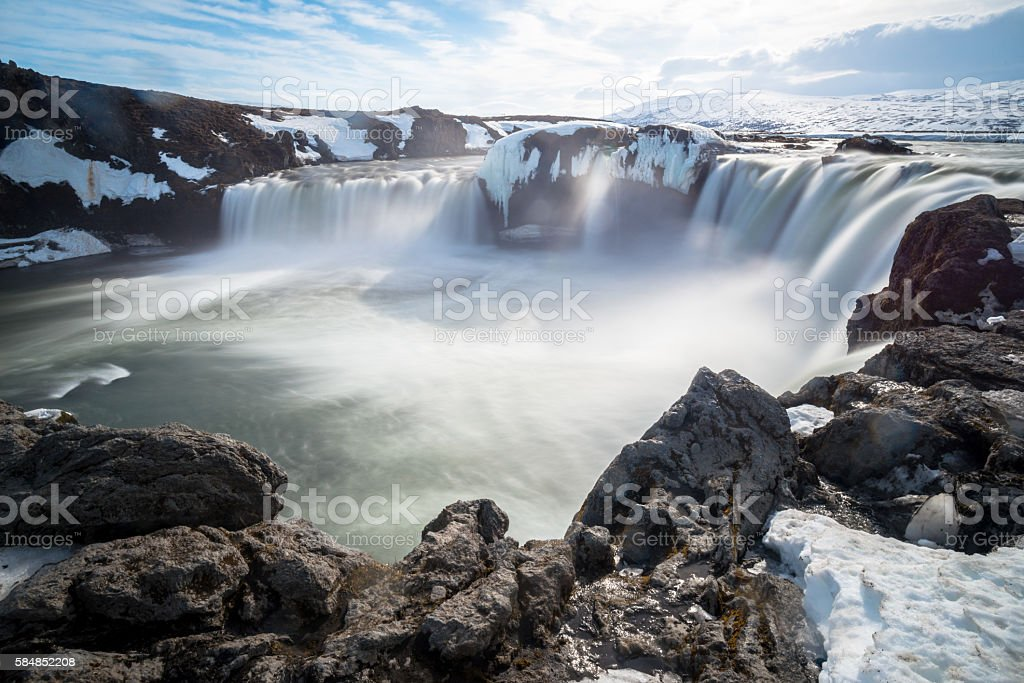 Goads the waterfalls of god. stock photo