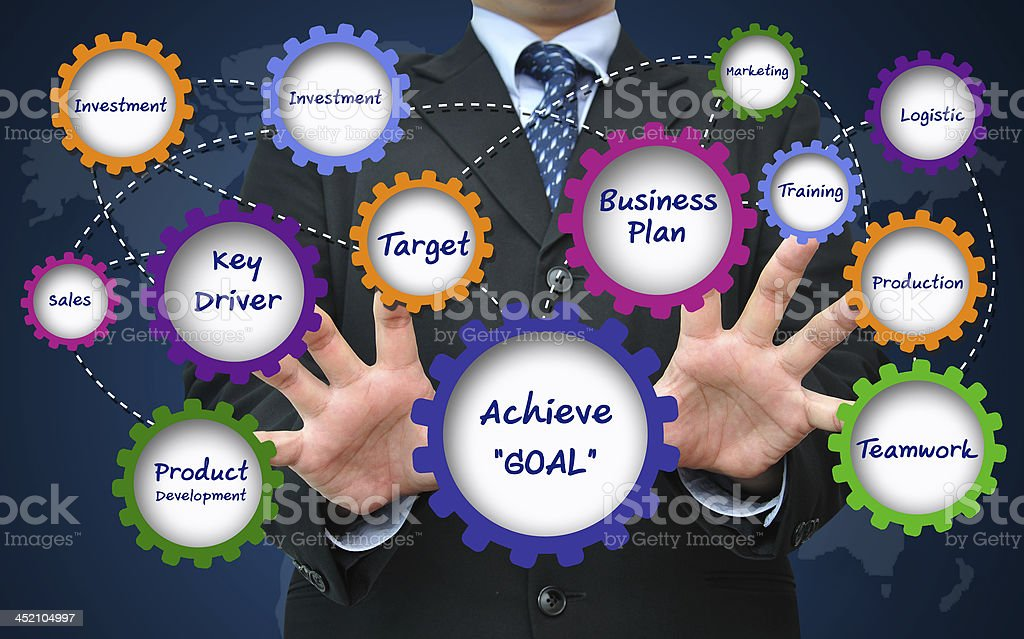 Goal achievement for business successful concept stock photo