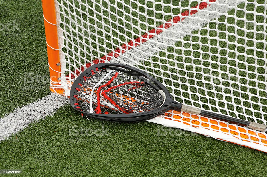 Goal and Stick royalty-free stock photo