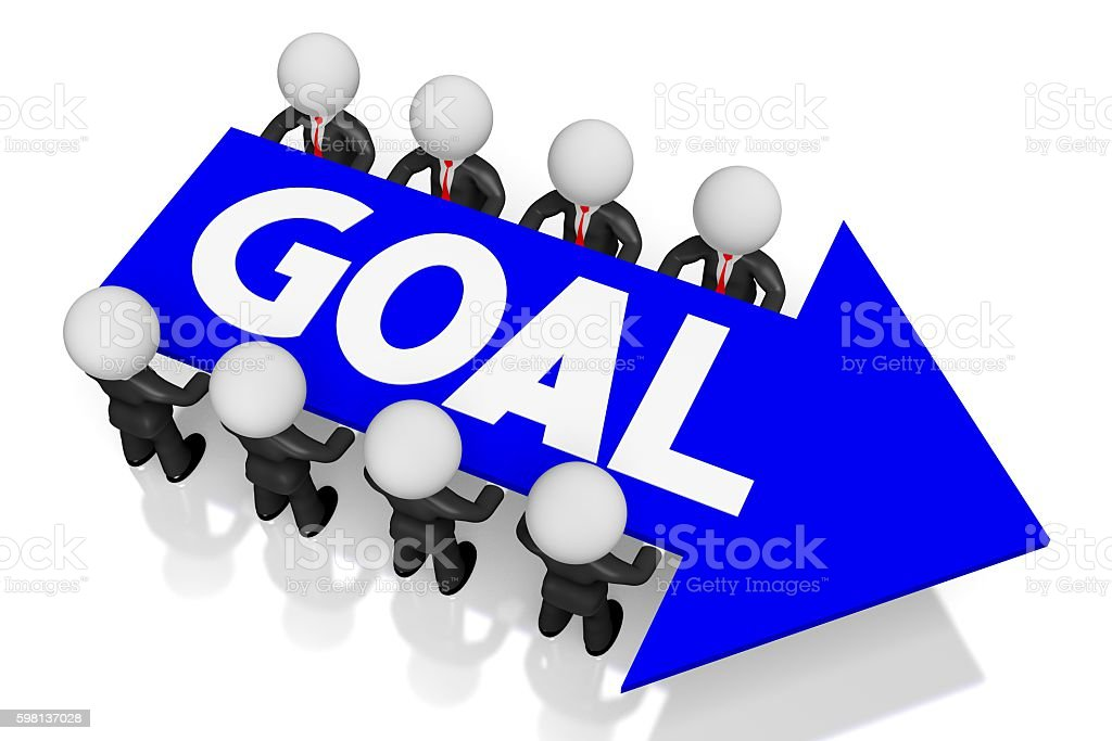 3D goal concept stock photo