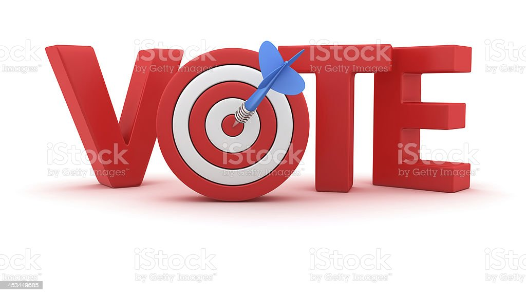 Goal for the Vote royalty-free stock photo