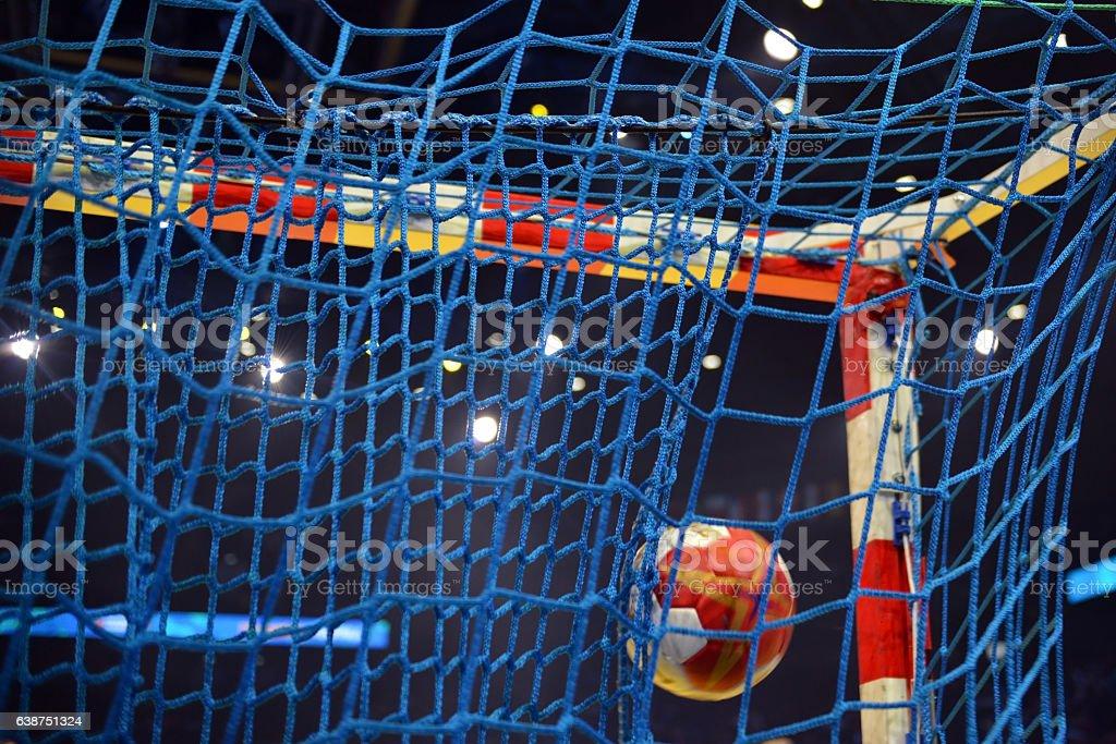 Goal Handball stock photo