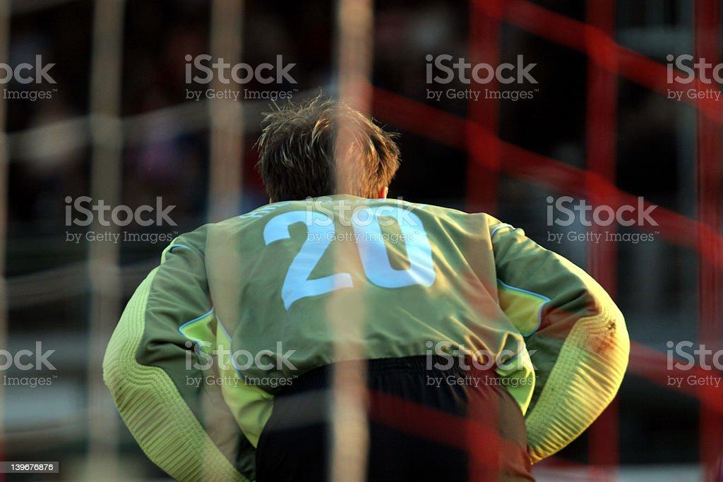 Goal Keeper stock photo