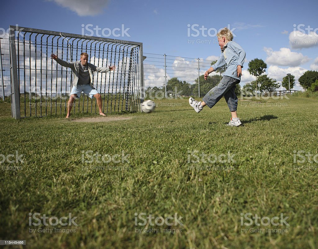 Goal Kick stock photo