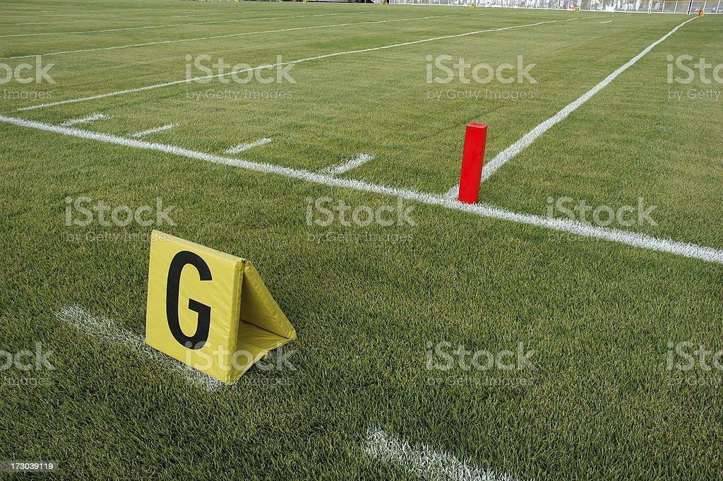 Goal Line Marker stock photo