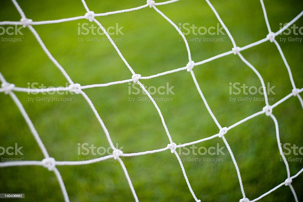 Goal net stock photo