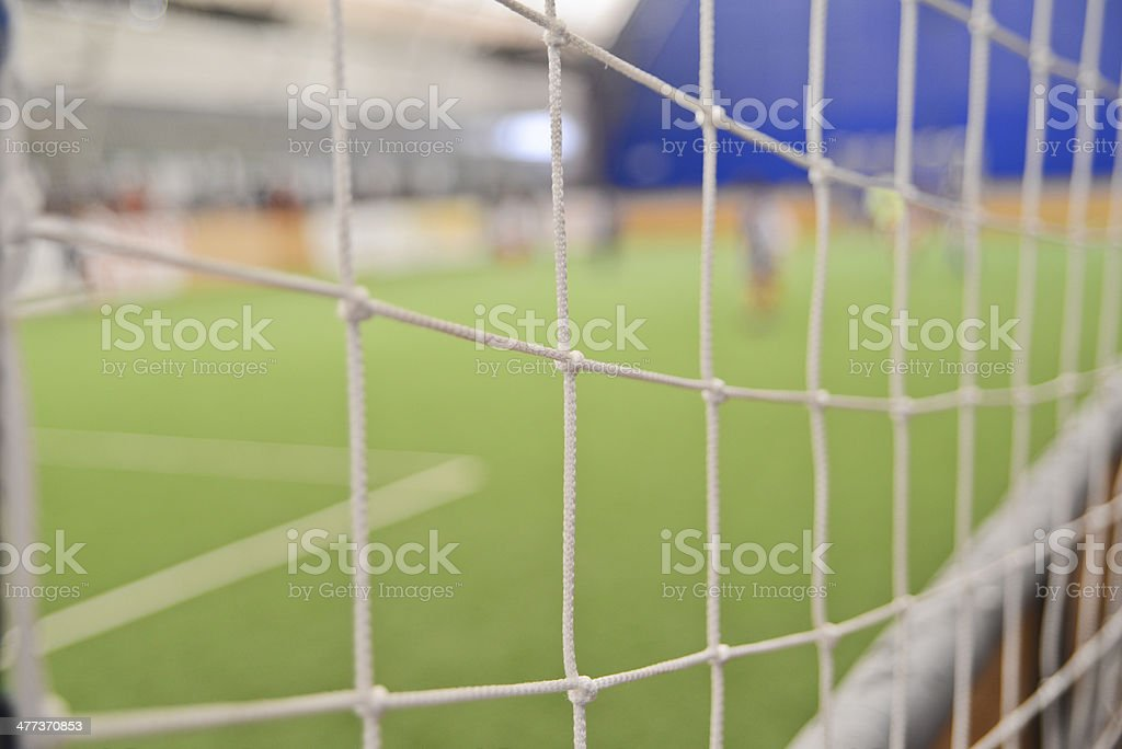 Goal net royalty-free stock photo