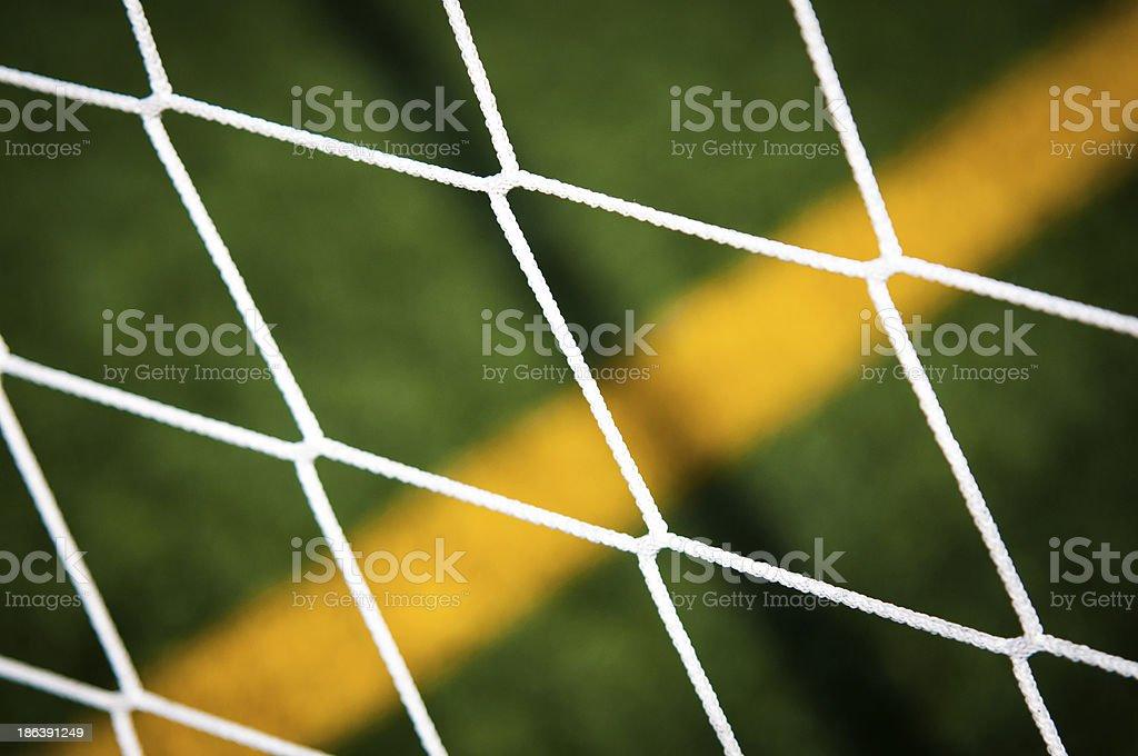 Goal net Yellow Line stock photo