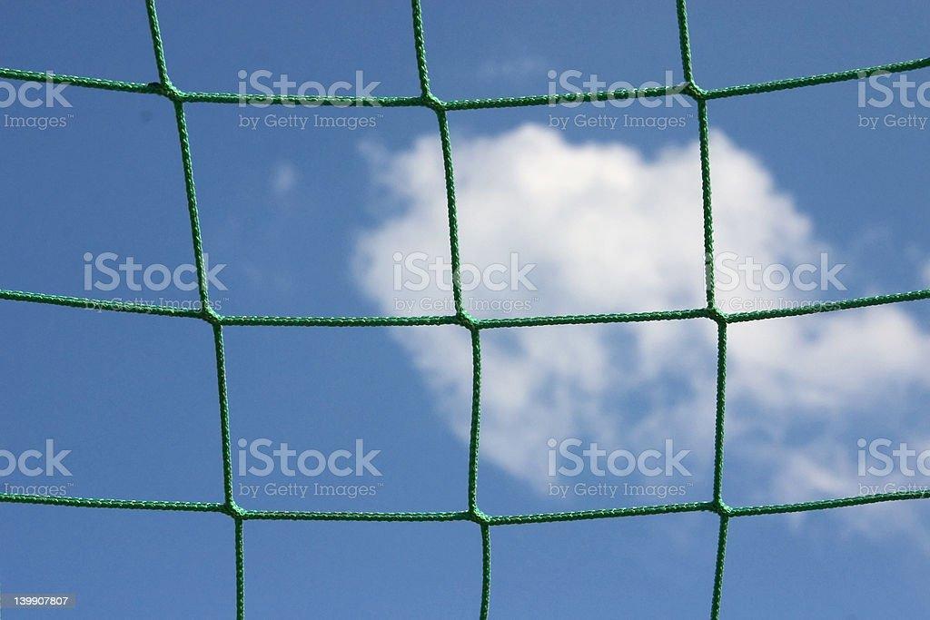 Goal netting royalty-free stock photo