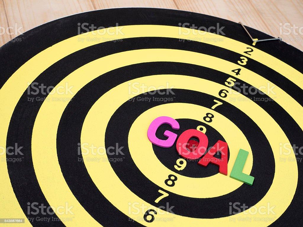 Goal on dart board 6 stock photo