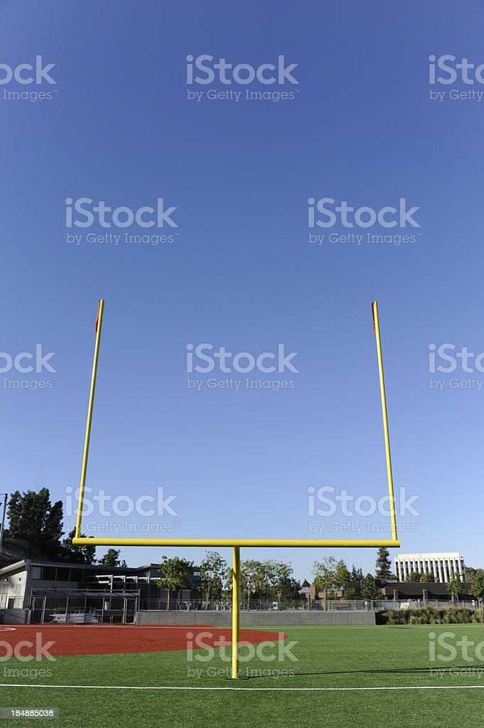Goal Post Against Blue Sky royalty-free stock photo