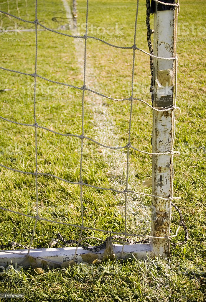 Goal post close up royalty-free stock photo