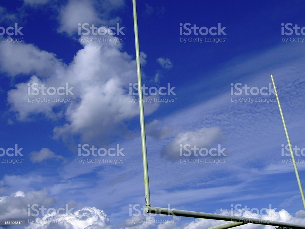 Goal Post In The Sky royalty-free stock photo
