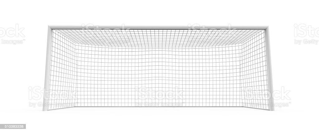 Goal post on white background stock photo