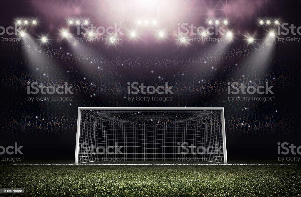 Goal post stock photo