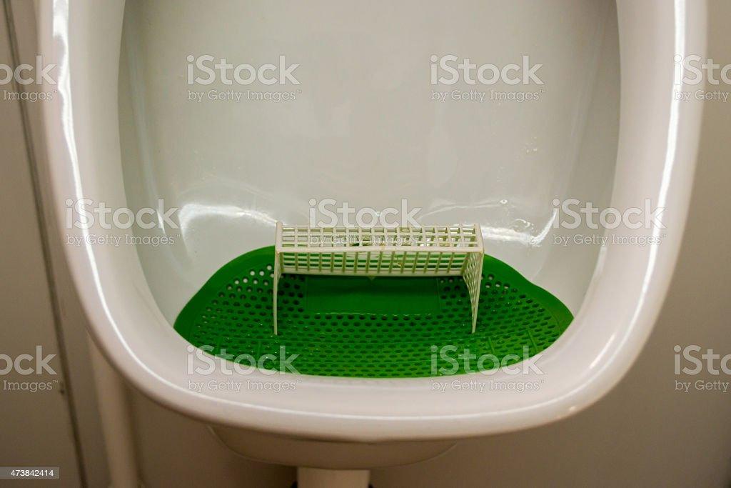 Goal Post Urinal stock photo