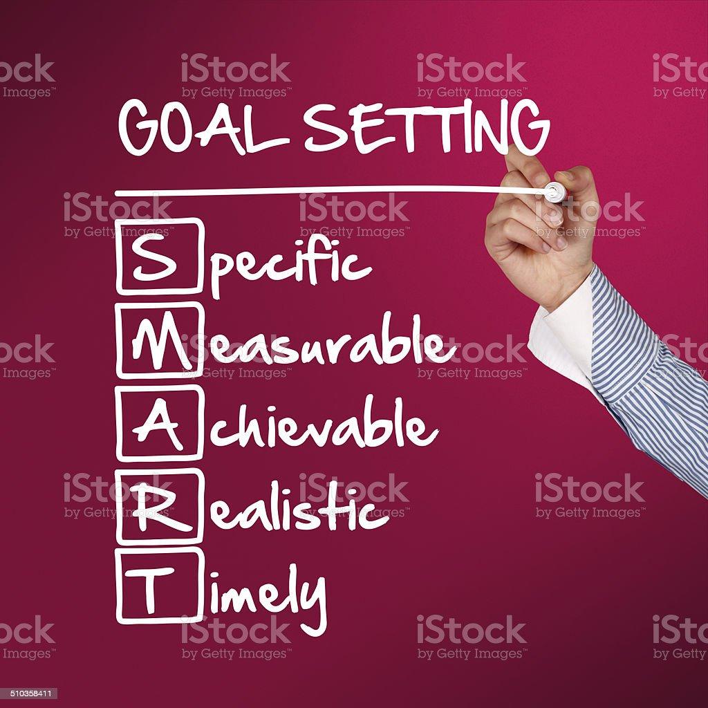 Goal setting concept stock photo