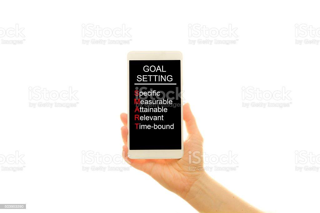 Goal setting - generic phone stock photo