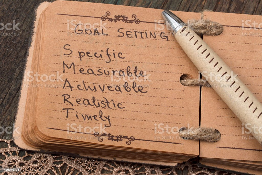 Goal Settings stock photo