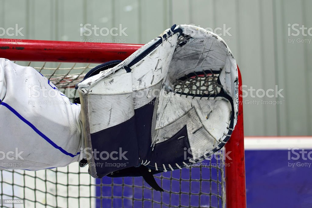 Goalie glove stock photo