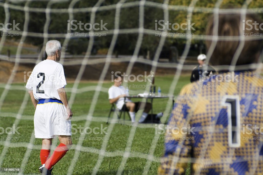 Goalkeeper and Guard stock photo