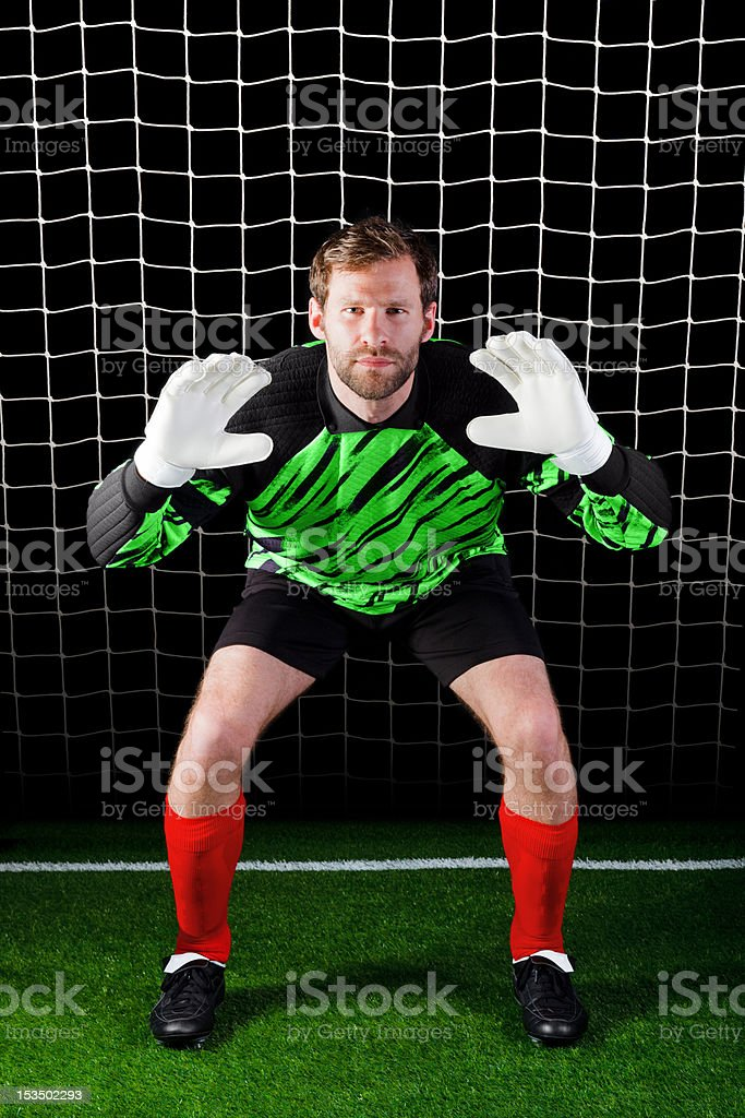 Goalkeeper royalty-free stock photo