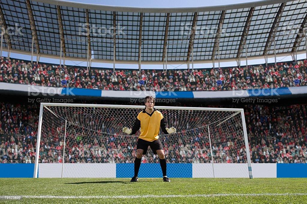 Goalkeeper stock photo