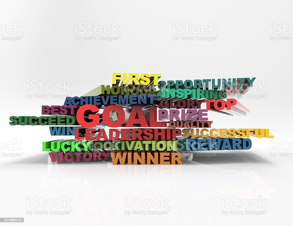 Goal,Leadership,best,lucky 3d crossword concept stock photo