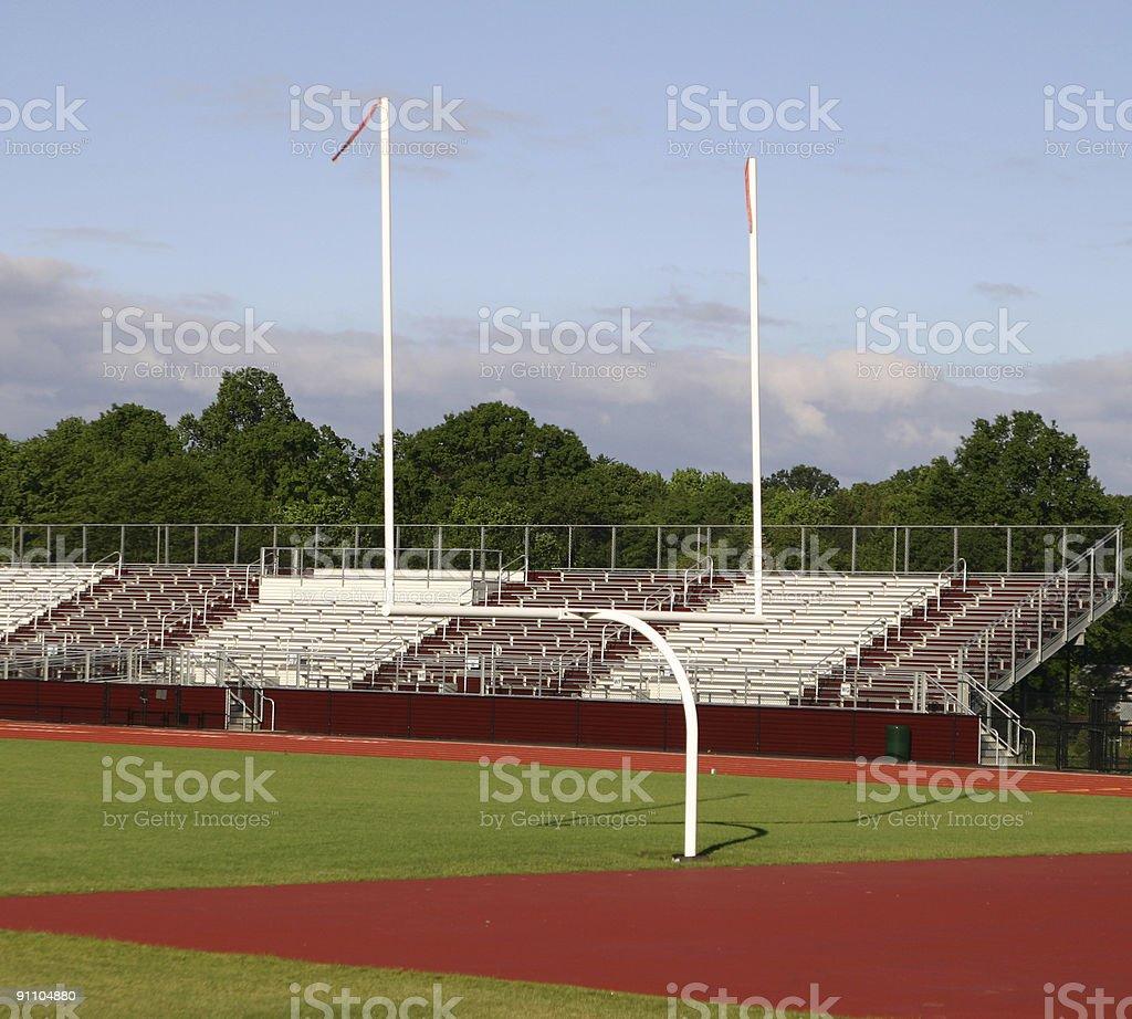 Goalpost stock photo