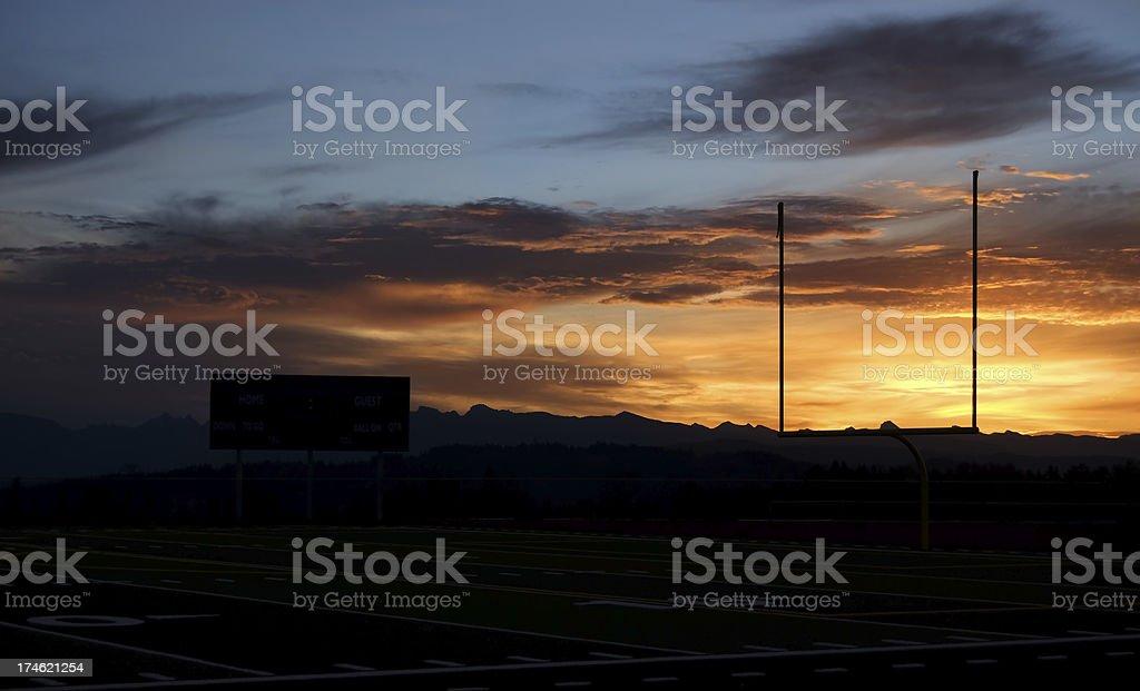 Goalposts at Sunrise royalty-free stock photo