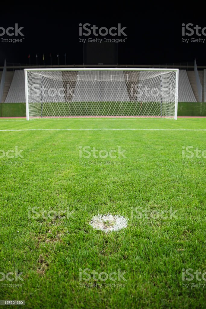 Goalposts stock photo