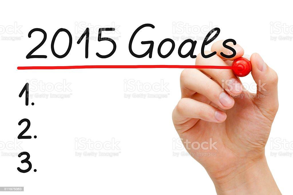 Goals 2015 stock photo
