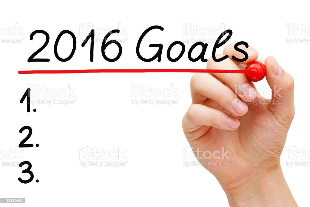 Goals 2016 List stock photo