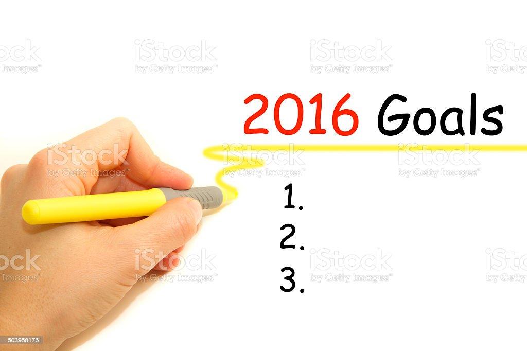Goals 2016 stock photo